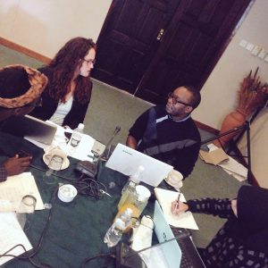 "Participants in Publish What You Pay's ""Extractors"" program review each other's open data projects in Harare, Zimbabwe."