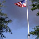 smoke, flag